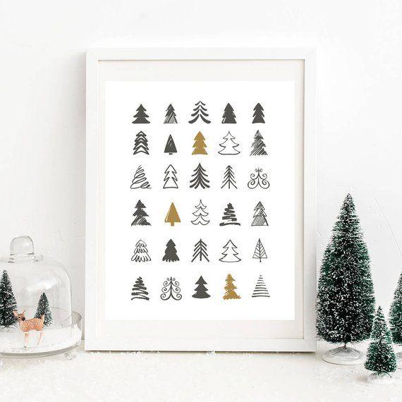 Christmas printable wall art, Christmas tree print, Christmas print, Christmas poster, christmas home decor, downloadable prints, digital
