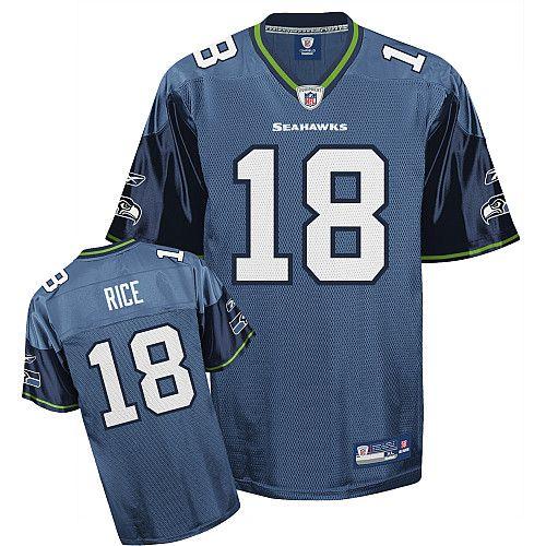 NFL  18 Blue Sidney Rice Seattle Seahawks Jersey  6409702a545