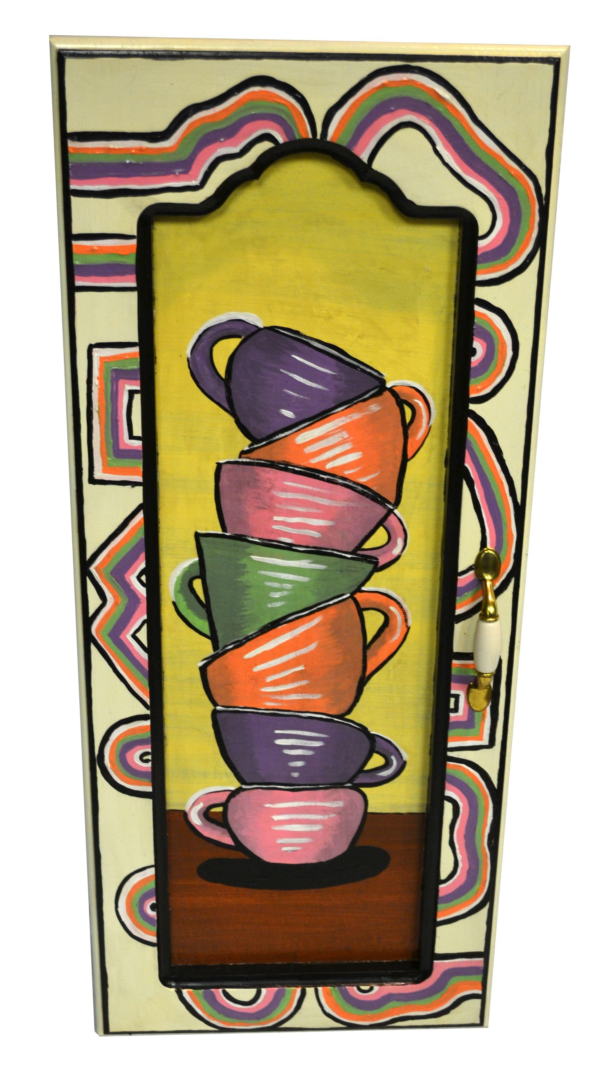 """""""The Coffee Cupboard"""" originally a cabinet door at ReStore ..."""