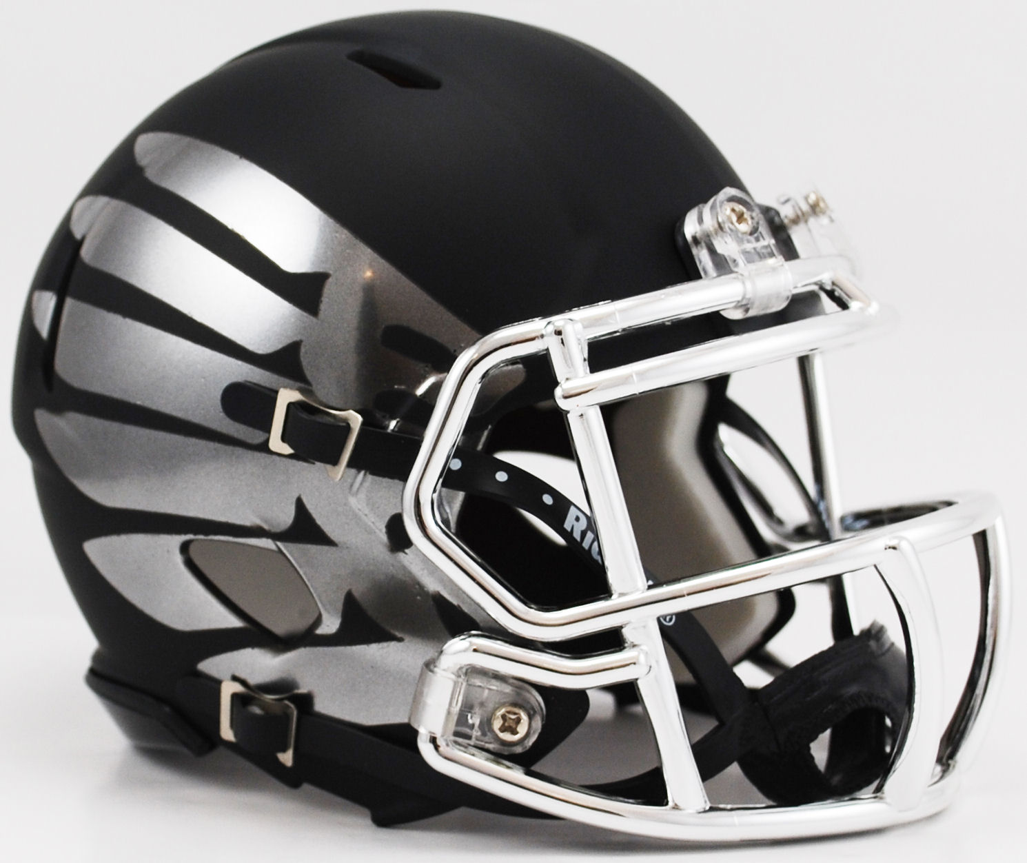 Oregon Ducks Liquidmetal Mini Football Helmet Titanium Black Eclipse Hydroskin Mini Football Helmet Football Helmets Oregon Ducks