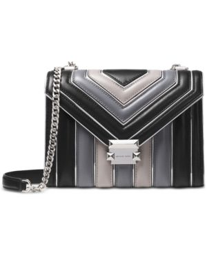9ee9d3a912b2 Michael Michael Kors Whitney Tricolor Quilted Shoulder Bag - Black  Multi Silver