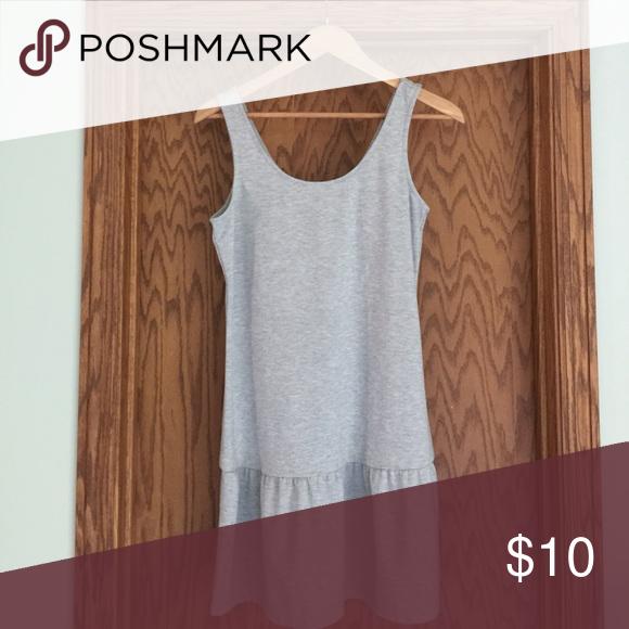 Gray drop waist dress The softest material! Worn once, sleeveless, drop waist dress. 75% Polyester/21% Rayon/4% Spandex Old Navy Dresses