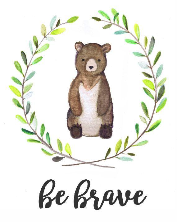 Woodland Baby Gift Nursery Decor Shower Gift Bear