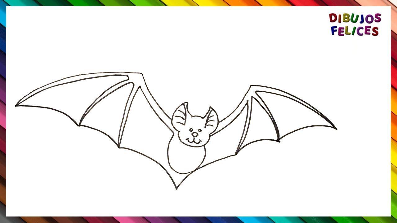 Como Dibujar Un Murcielago Paso A Paso Y Facil Como Dibujar Un Murcielago Animales Faciles De Dibujar Como Dibujar