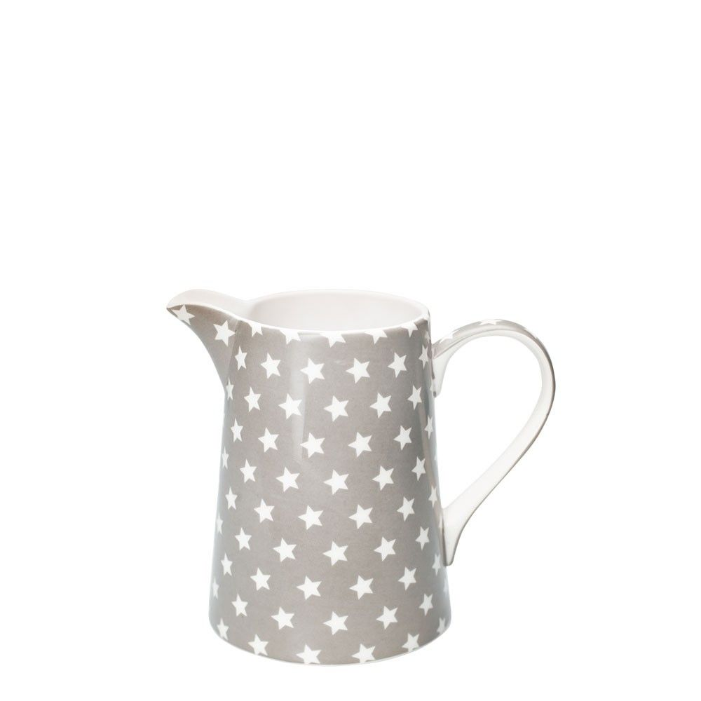 Greengate Espressotassen grey and white jug from greengate the jug has a curved