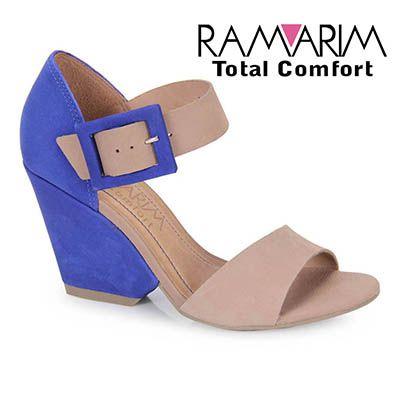 3909464f6 Feminino - Sandalia Salto Feminina Ramarim 12-41203 - Azul - Passarela.com  - Calçados online