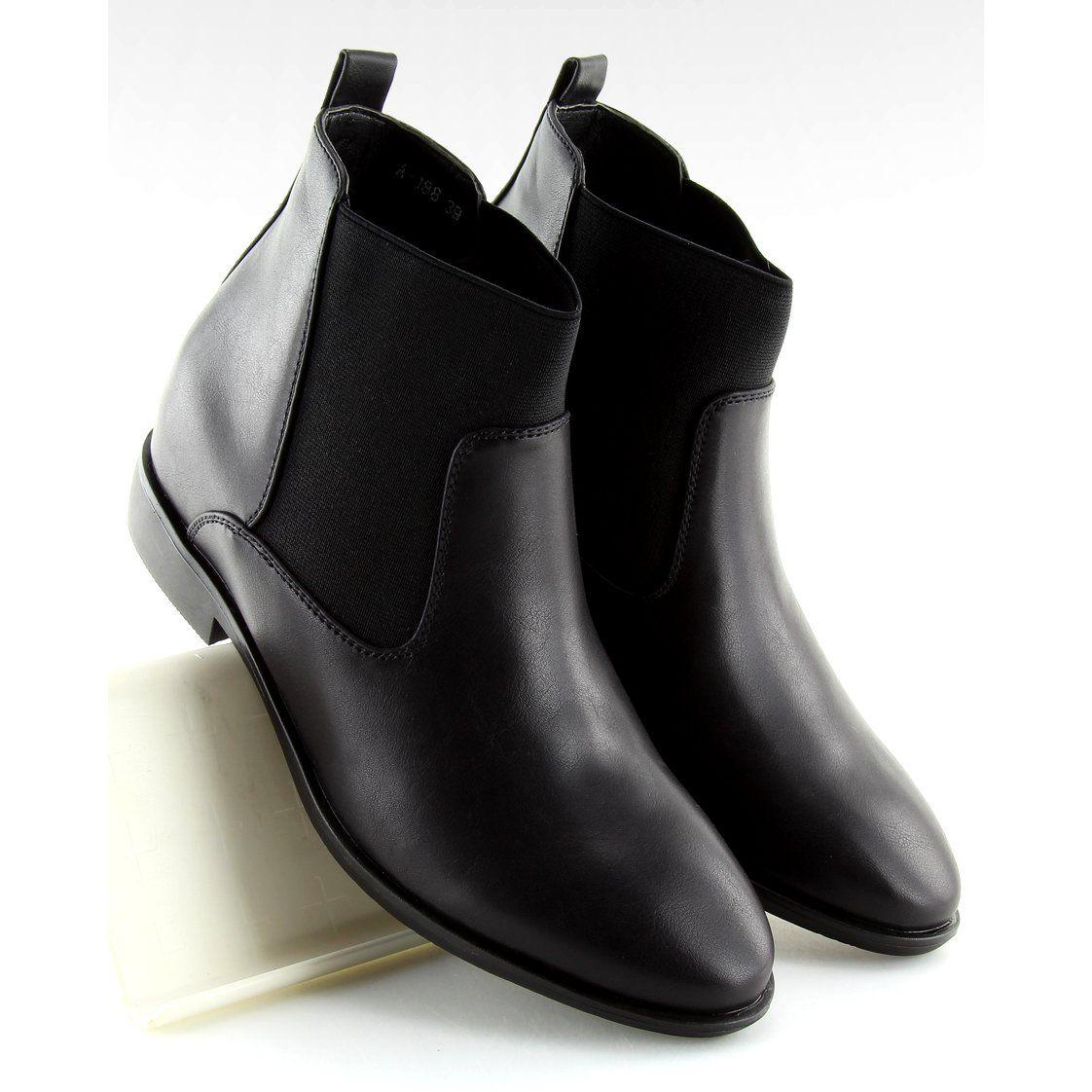 Botki Sztyblety Czarne A 188 Black Boots Jodhpur Boots Bottom Clothes