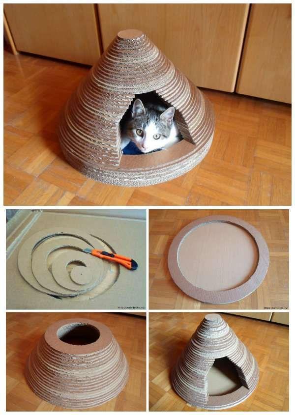 27 supers id es bricolage pour chats et chiens fabrication maison bricolage pour chat chien - Fabrication maison en carton ...