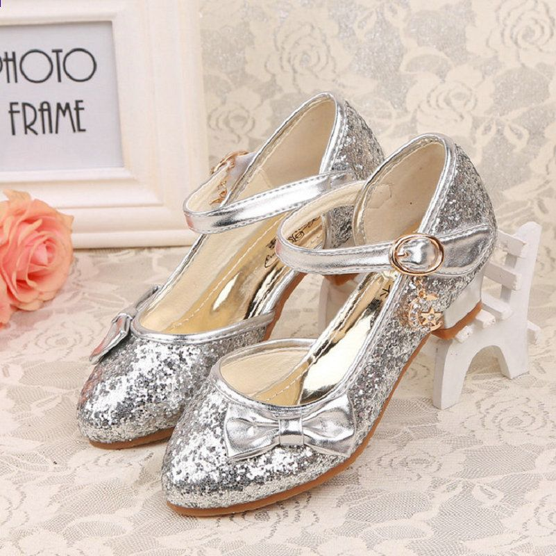 Dziewczyny Ksiezniczka Buty 2017 Nowe Dzieci Ksiezniczka Sandaly Dzieci Dziewczyny Buty Slubne W Flower Girl Shoes Girls Wedding Shoes Wedding Shoes High Heels