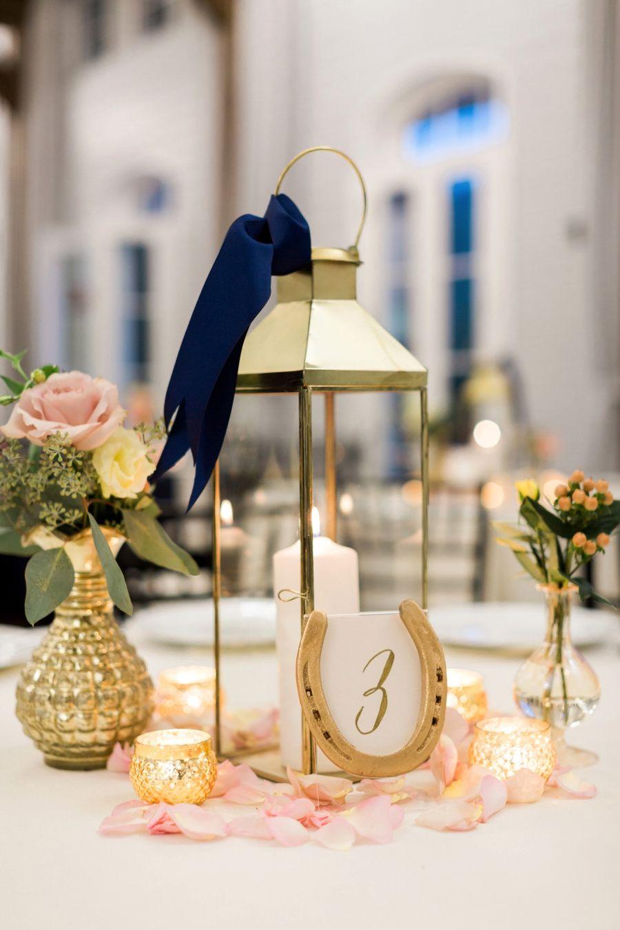 Chic Elegant Navy And White Georgia Wedding Wedding Table
