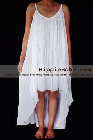 3780d99b314 No.466- Size XS-5X Hippie Boho Clothing Gypsy Asymmetrical White Plus Size  Strap Summer Maxi Dress
