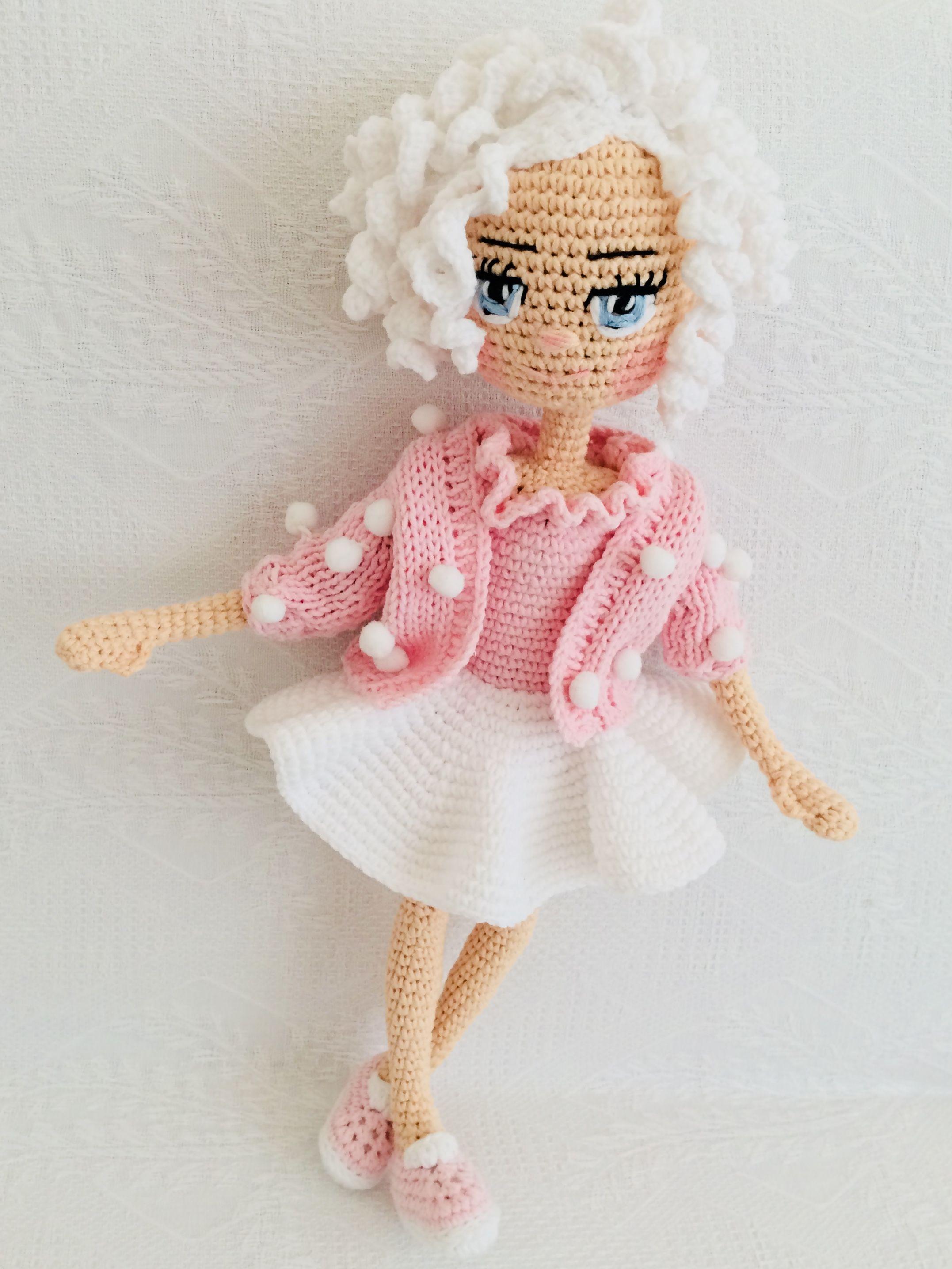 PDF Crochet doll Aria, crochet doll, Crochet Pattern - Doll ... | 2872x2154