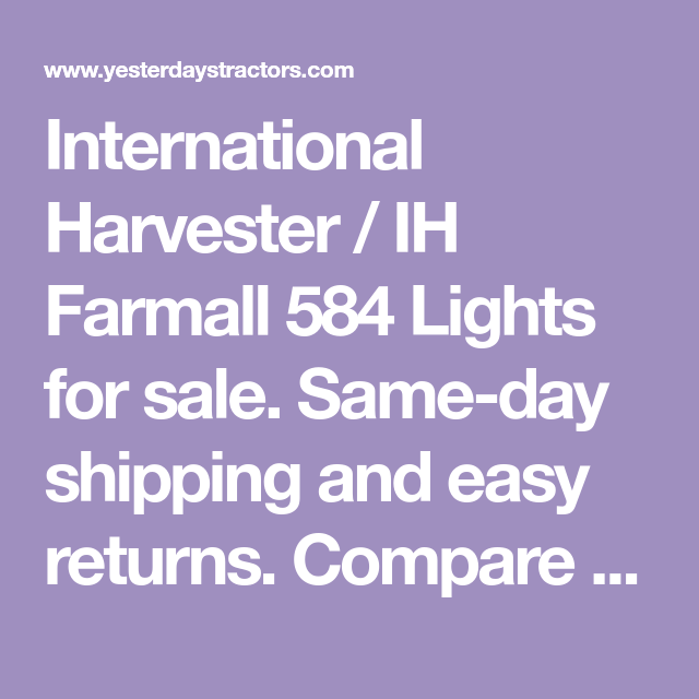 International Harvester Ih Farmall 584 Lights For Sale Same Day Shipping And Easy Returns Compare Our In 2020 Farmall International Harvester Led Warning Lights