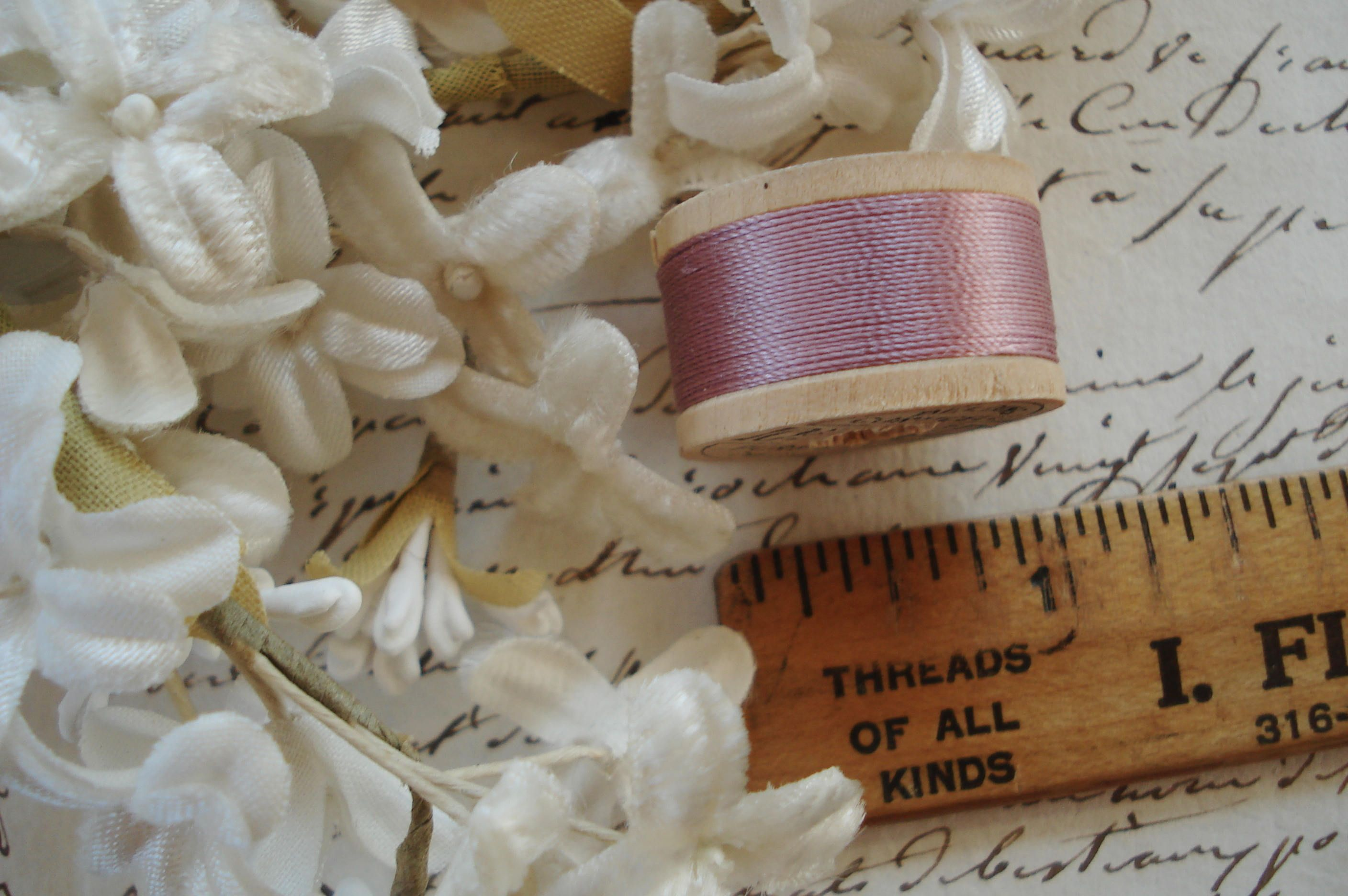 SALE 2 for 1 ! Vintage Antique Gold French MetallicTwist Thread Fly Tying