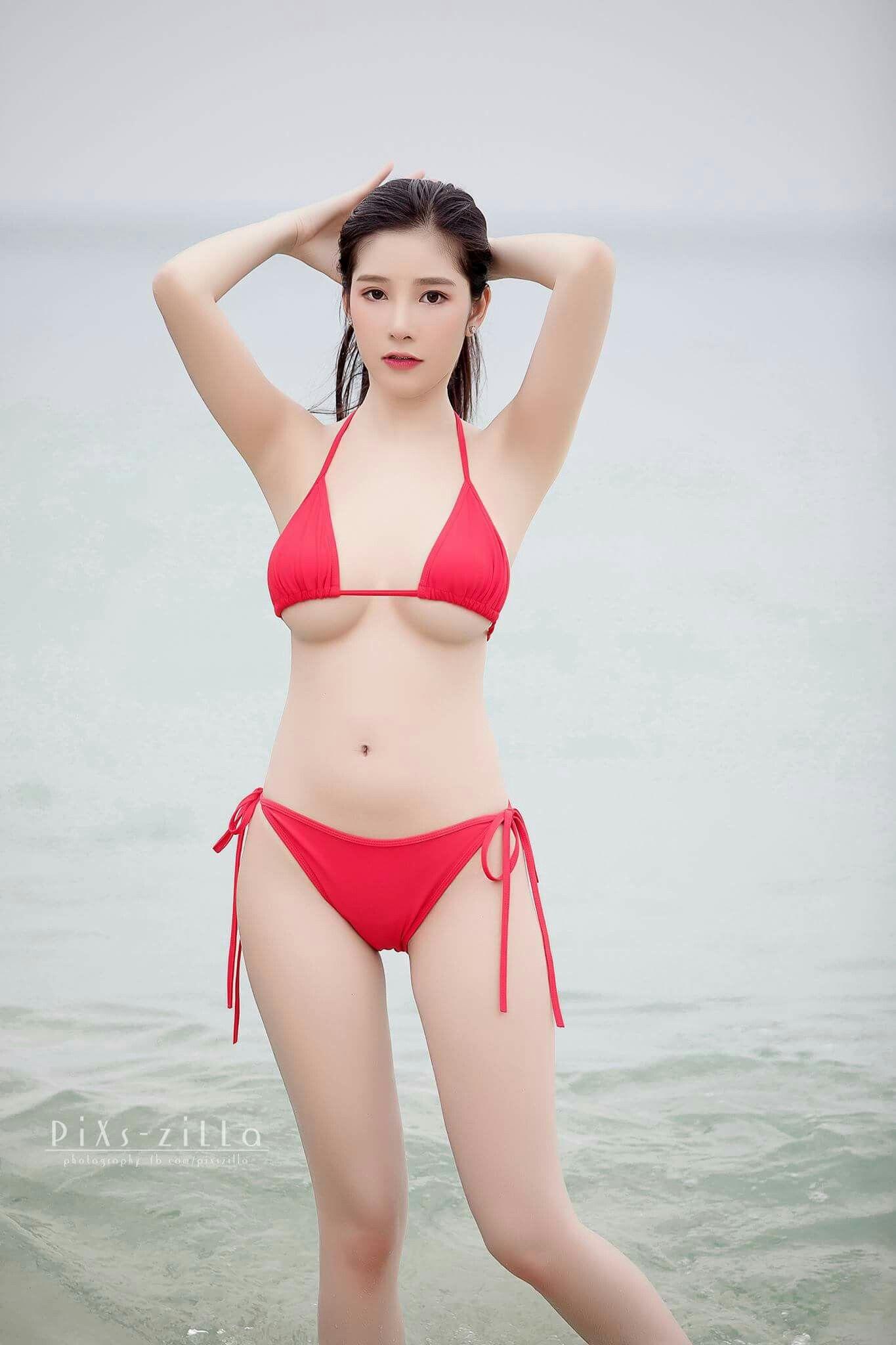 Asian bathing beauties in panties