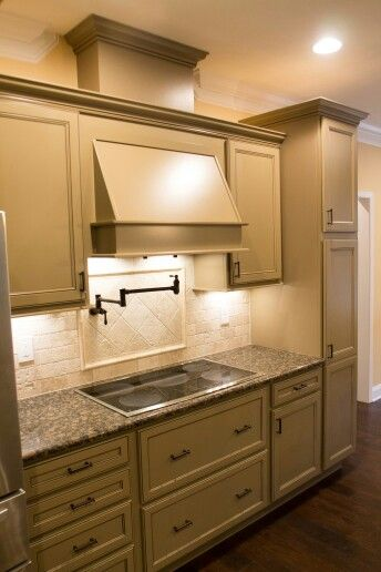 Kitchen Cabinets Homecrest Cabinetry Jordan Maple Chino Paint With Cocoa Glaze Finish Is Discontinued And