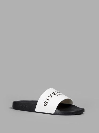 573d2eed9319cc GIVENCHY GIVENCHY MEN S BLACK WHITE POOL SLIDES.  givenchy  shoes  sandals  Pool