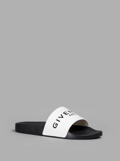 d83d818455df GIVENCHY GIVENCHY MEN S BLACK WHITE POOL SLIDES.  givenchy  shoes  sandals