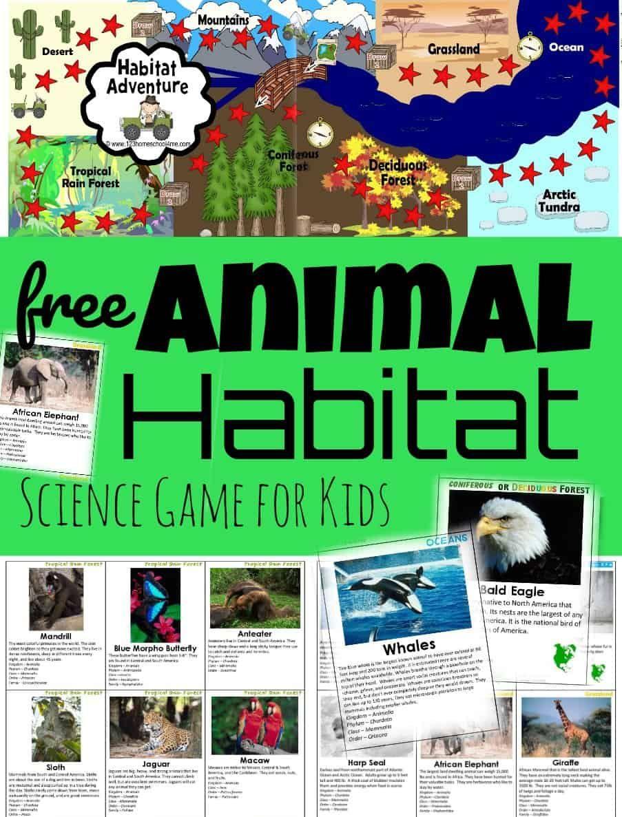 Free Habitat Game Exploring Biomes Biomes Science Games For Kids Science Games [ 1187 x 903 Pixel ]