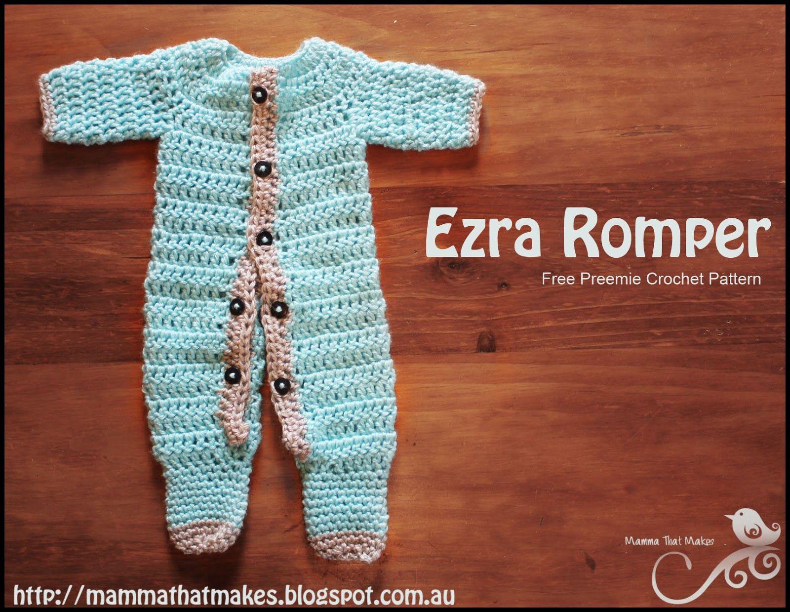 Ezra romper a free crochet prem baby pattern from mamma that a free crochet prem baby pattern from mamma that makes bankloansurffo Gallery
