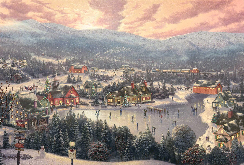 Thomas Kinkade Christmas Backgrounds - Thomas Kinkade Wallpaper Thomas Kinkade