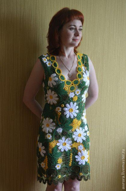 Платье с ромашками ирландским кружевом