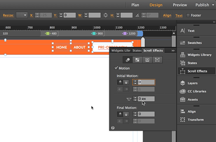 Scroll Effects with Responsive Design - Adobe Muse