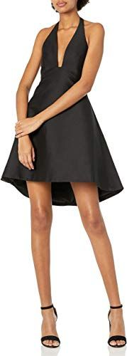 Photo of New HALSTON HERITAGE Women's Structured Halter Cocktail Dress onl