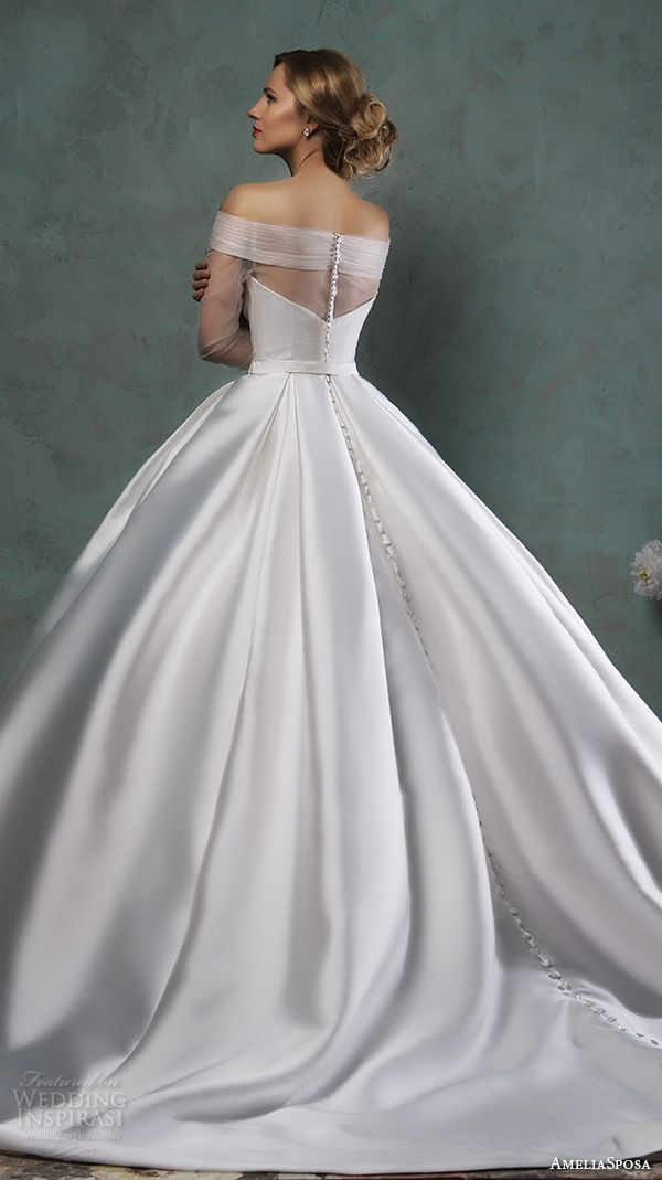Amelia sposa 2016 wedding dresses beautiful wedding and for 3 4 sleeve ball gown wedding dress