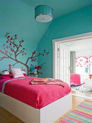 Arbol pintado | ideas | Bedroom, Girls bedroom y Room
