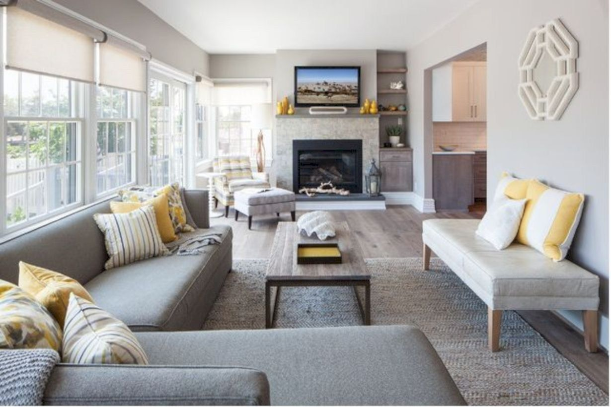 adorable living room layouts ideas with fireplace 16