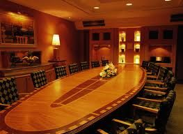 A reserved meeting room with more privacy.