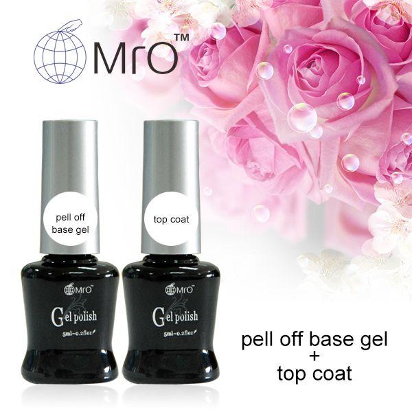 Mro 2 pezzi/lottp la base e la parte superiore del gel vernice uv gel base e top coat la per le unghie primer armonia