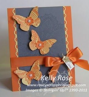 butterflies and ribbon card