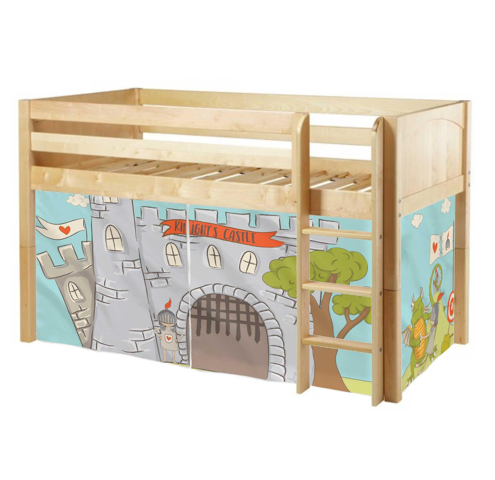 Playhouse For Maxtrix Mid Loft Bed Knight Curtains Custom Tent Bunk Accessories House