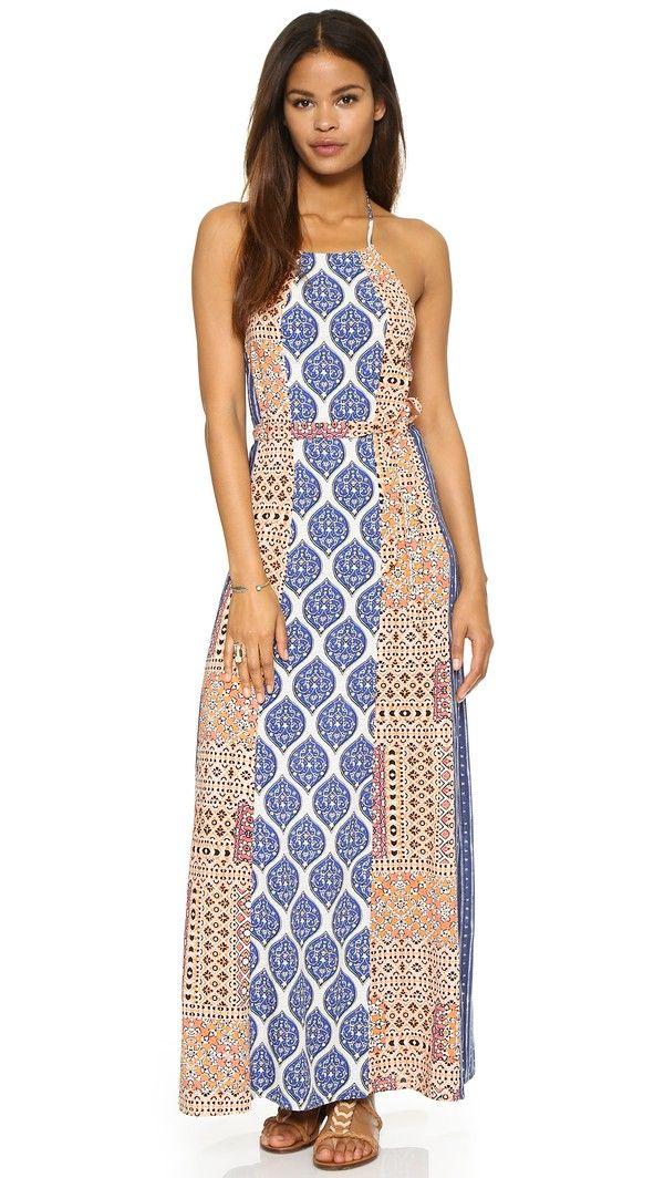 Tigerlily Hayati Maxi Dress Patchwork Dresses Maxi Dress Halter Top Maxi Dress