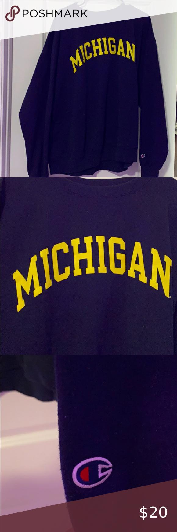Michigan Champion Crewneck Champion Crewneck Champion Tops Sweatshirt Tops [ 1740 x 580 Pixel ]