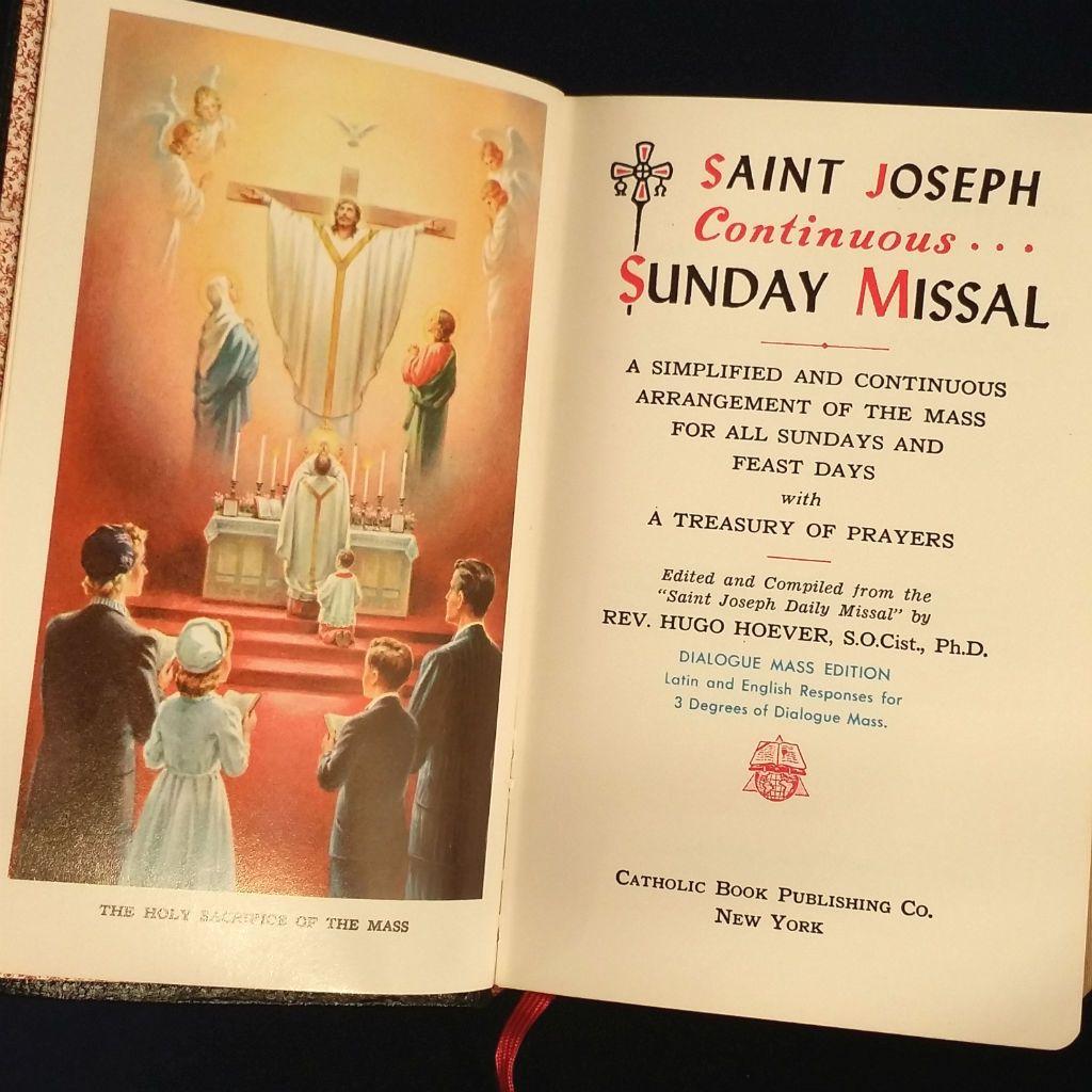 1961 Saint Joseph Continuous Sunday Missal | Books - At The