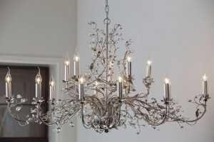 Wonderful Evita Silber 12 Lichter 120x68x70 Cm E14 Kronleuchter Lüster Luster