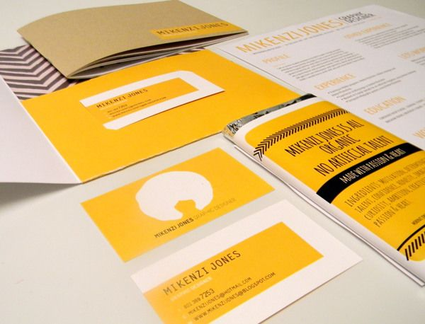 Self Promotion by Mikenzi Jones, via Behance