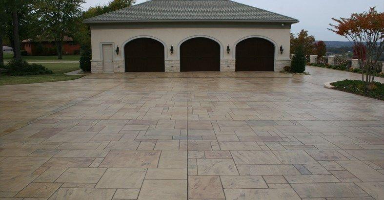 Garage Parking Stamped Stone Stamped Concrete Ozark Pattern Concrete Inc Lowell Ar Stamped Concrete Concrete Cost Stamped Concrete Pictures