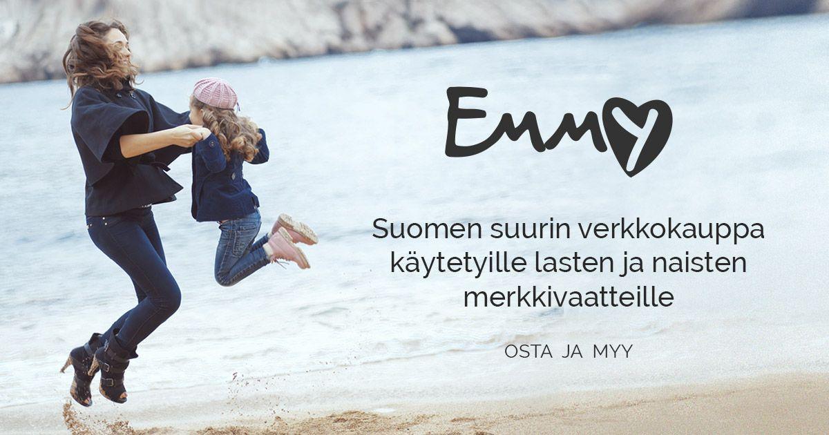 Nyt uusi elämä hyville vaatteille. Emmy on verkkokauppa, jossa voit myydä ja ostaa käytettyjä, laadukkaita lasten- ja naistenvaatteita.