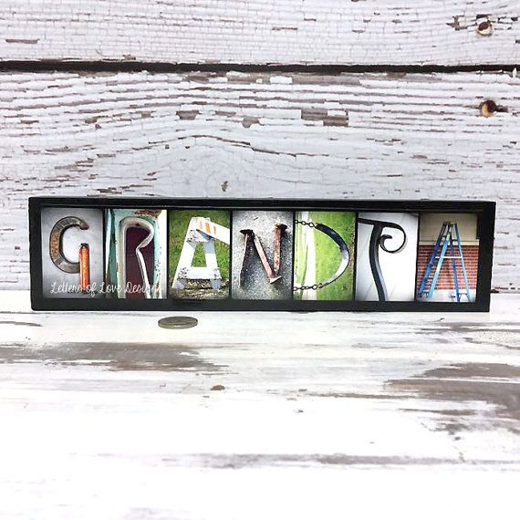 GRANDPA Sign  Wood Sign Father's Day Gift  by LettersOfLoveDesigns
