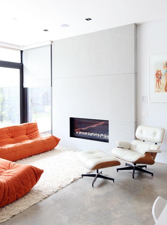 Dream Couch Orange Togo Ligne Roset Home Sweet Home Pinterest