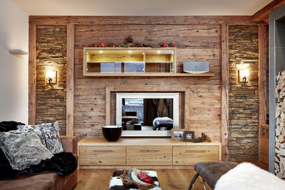 Altholz Wohnzimmer Palettenmöbel Pinterest Altholz - gemutliche holzverkleidung innen