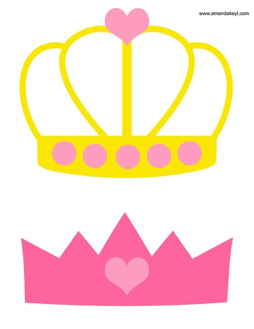 Crowns From Princess Pink Printable Photo Booth Prop Set Photo