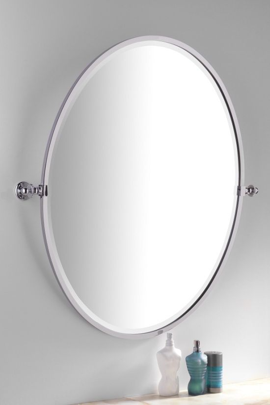 classic bathroom tilting mirror oval available in several