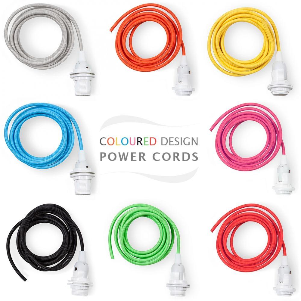Farbiges Netzkabel mit Lampenfassung | Einrichten | Pinterest | Farbig