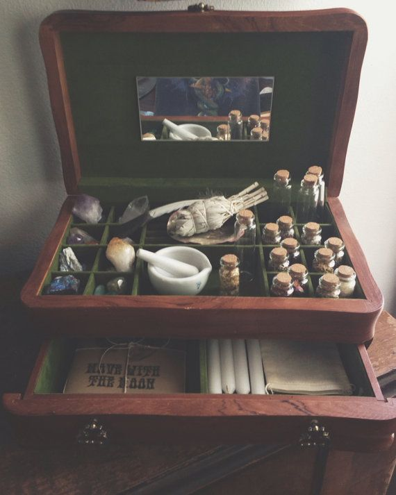 The Witch's Charm Box Wood By MoveWithTheMoon On Etsy