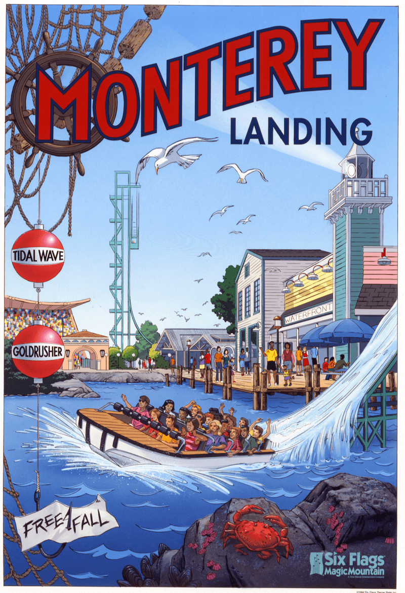 Kbxd Project Detail Six Flags Magic Mountain Poster Program Poster Six Flags Retro Poster